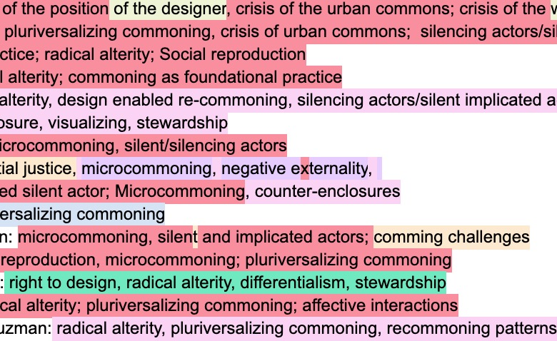Commoning design and designing commons